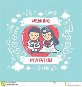 cartoon wedding card stock vector image 49834314 With wedding invitations cartoon pictures