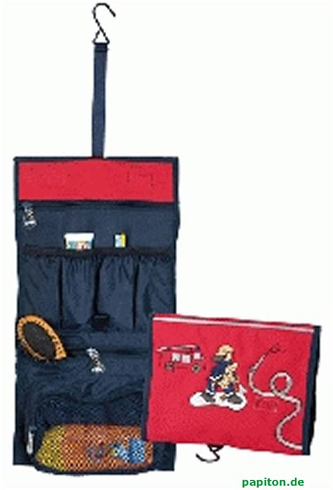 sigikid trousse de toilette 224 accrocher frido firefighter