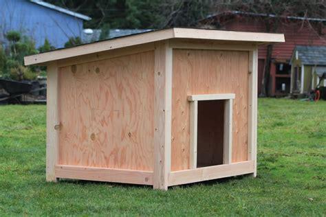 wood large dog house plans blueprints  diy    build