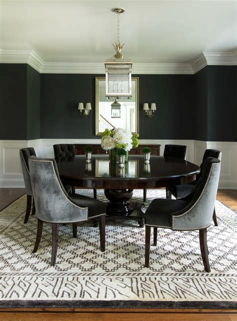 black dining room table contemporary round dining table dining room contemporary