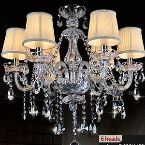 Lustre Cristal Moderne : buy k9 clear crystal chandelier lampshade lustre de cristal para sala de jantar ~ Teatrodelosmanantiales.com Idées de Décoration