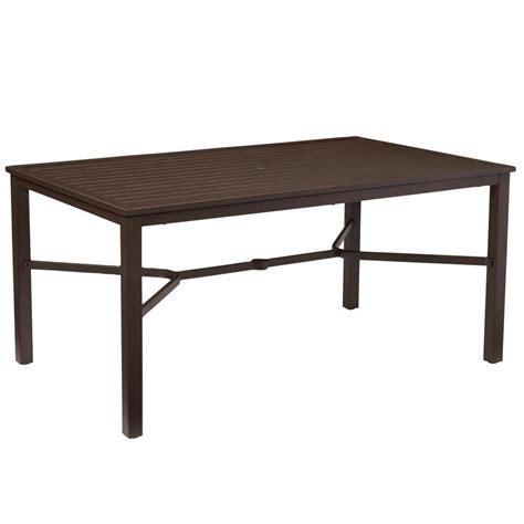 rectangular patio dining table mix and match rectangular metal outdoor dining table