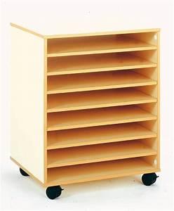 Meuble De Rangement Papier : meuble bas mobile pour rangement papier dessin 8 cases ~ Teatrodelosmanantiales.com Idées de Décoration