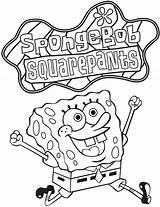 Spongebob Coloring Nickelodeon Squarepants sketch template