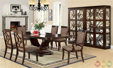 Modern Formal Dining Room Sets by Woodmont Contemporary Walnut Formal Dining Set With
