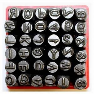36 pc metal letter and number stamp punch tool set ridge With letter and number stamps for metal