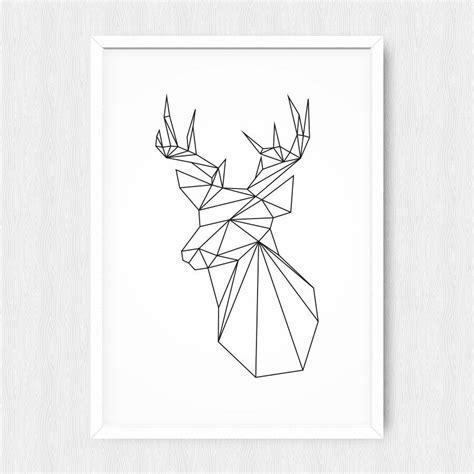 geo hirsch cerf dessin dessin origami  animaux