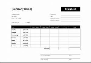 4 excel sheet templates for everyone word excel templates With service job sheet template
