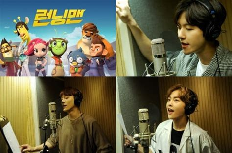 exo in running man exo cbx to sing quot running man quot animated series theme song