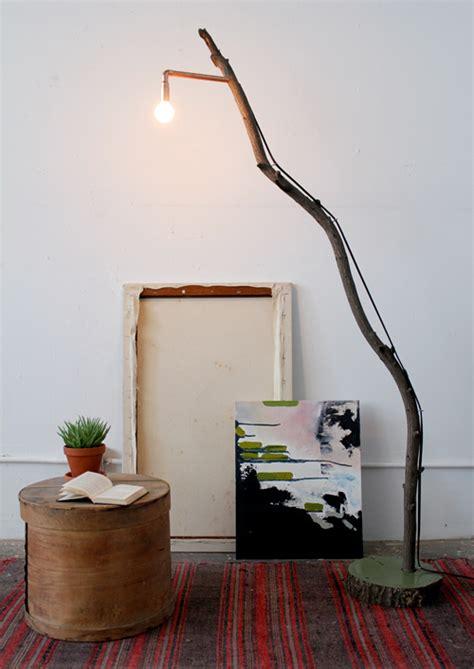 diy project copper branch floor lamp designsponge