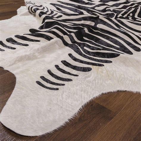 Zebra Cowhide Rugs by Black And White Zebra Print On Cowhide Rug Rodeo Cowhide
