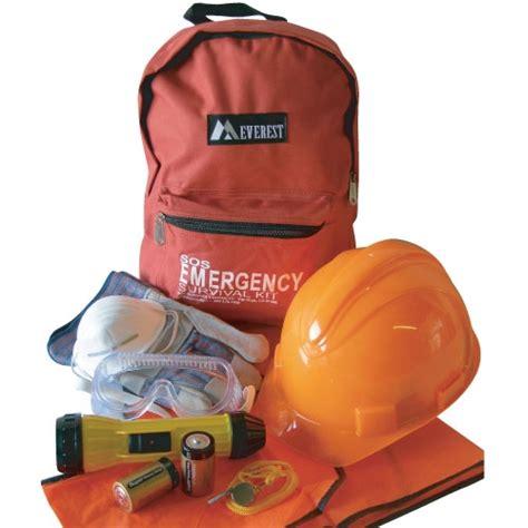 floor warden kit  hard hat orange vest flashlight