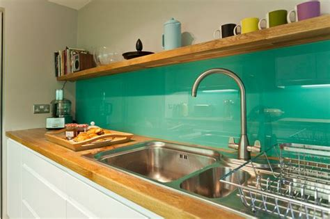 Tile Kitchen Countertops Ideas - back painted glass backsplash my diy trial run