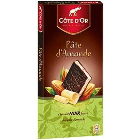 chocolat fourre pate d amande cote d or tablette chocolat noir fourre pate d amandes 150 g