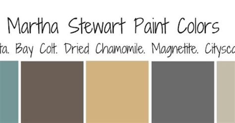 martha stewart paint colors pallet living room