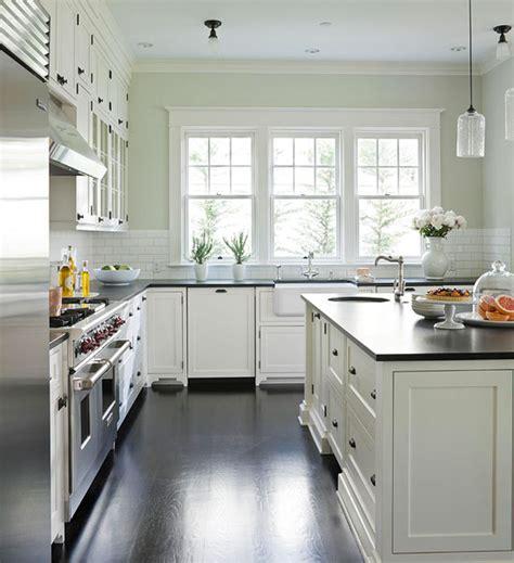 White Kitchen Cabinet Paint Colors Transitional
