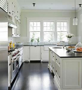 white kitchen cabinet paint colors transitional With what kind of paint to use on kitchen cabinets for black and white photo wall art