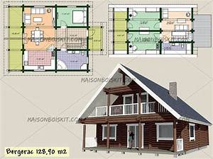 plan maison bois rond gratuit With plan maison en bois gratuit
