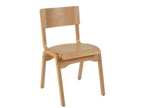 educational edge natural wood school chair  library