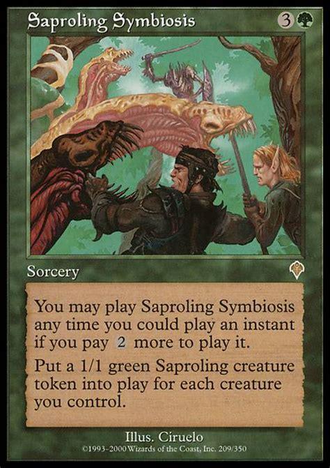 Saproling Deck Mono Green by Saproling Symbiosis Inv Mtg Card