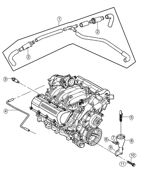 Dodge Engine Diagram For 5 7 by 2006 Dodge Ram 1500 Hose Crankcase Vent Breather