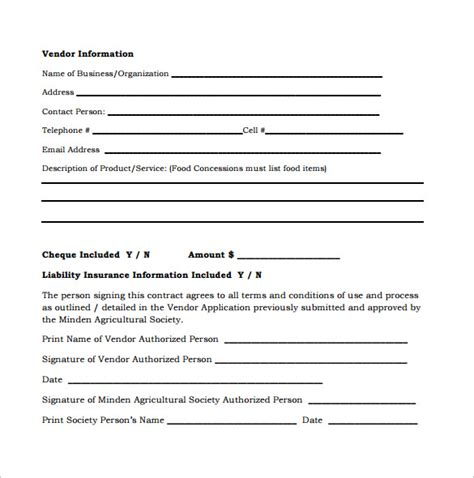 quartermaster templates 8 vendor contract templates to for free sle templates