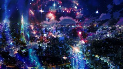 fu tokyo anime galaxy background  tamakiito sama
