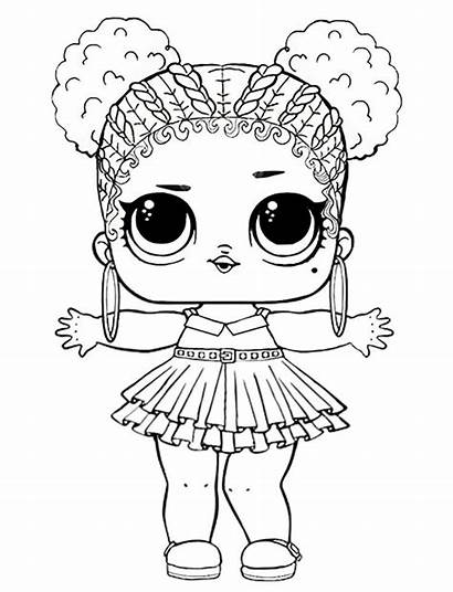 Lol Coloring Doll Pages Queen Purple Dolls