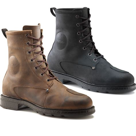 motorcycle boots shoes tcx x blend wp motorcycle boots waterproof vintage leather