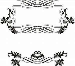15 Fancy Vector Borders Images - Free Vector Decorative ...
