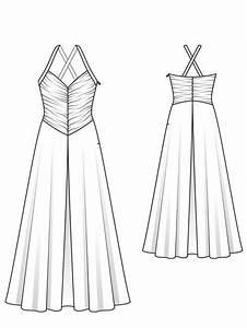 Gathered Evening Dress 06  2013  107  U2013 Sewing Patterns