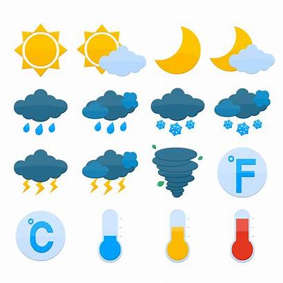 Weather Icons Forecast Vector Clipart Graphics Vectors
