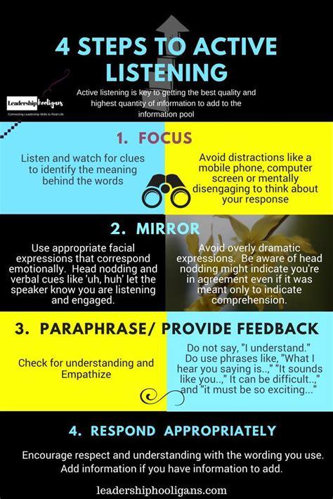 active listening  key leadership skill communication
