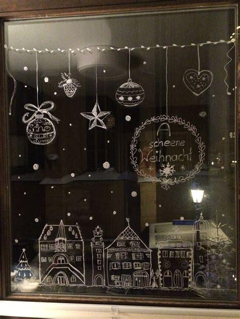 Fensterdekoration Weihnachten Kindergarten by Fensterdekoration F 252 R Weihnachten Mit Kreidestift Merry