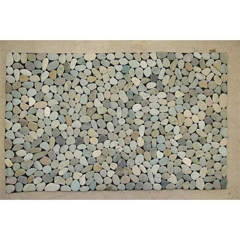 river rock doormat green mist river rock doormat 28 x 20 free shipping