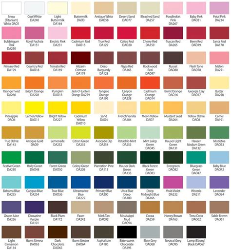 americana paint color chart americana acrylic paint color chart jpg color mixing