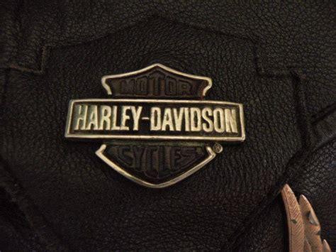 Harley Davidson Leather Bag Vintage Metal Eagles On Front