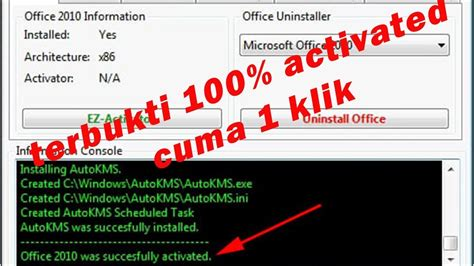 First, you need to open command prompt this is the reason why i did not want to write about office 2010 and 2013. Cara Aktivasi Office 2010 Offline dan Permanent    100% permanen dan sukses 2020 - YouTube