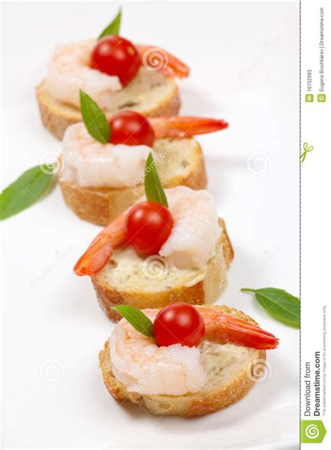 shrimp canape stock photos image 16752993