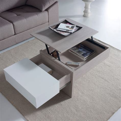 si鑒e de relevable table basse design relevable blanche concept