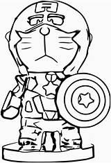 Algae Coloring Drawing Doraemon Clipartmag Shield Captain America sketch template