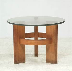 round studio side table with solid old oak legs and With glass coffee table with wooden legs