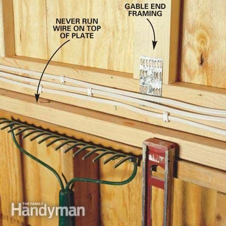Wiring A Garage Home by How To Wire A Garage Unfinished Electrical Diy
