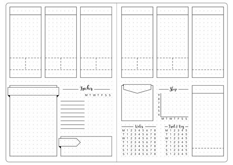 bullet journal template detailed weekly set up template kate louise