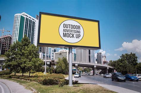 outdoor advertising mockups  billboard mockup