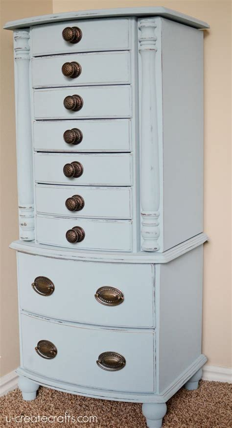 Painted Jewelry Armoire Jewelry Armoire Makeover Painted Furniture Idea