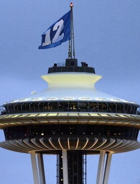 Seattle Space Needle 12th Man Flag