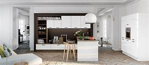 cuisine contemporaine avec ilot cuisines cuisiniste aviva With salle À manger contemporaine avec cuisine installation