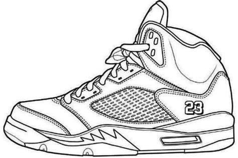 jordans shoes coloring pages printable  jordan coloring
