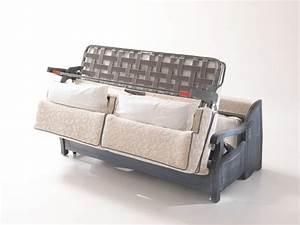 Sofa Mit Bett : rustikales sofa bett mit holzrahmen im provenzalischen stil idfdesign ~ Frokenaadalensverden.com Haus und Dekorationen